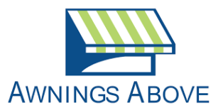 awnings above logo