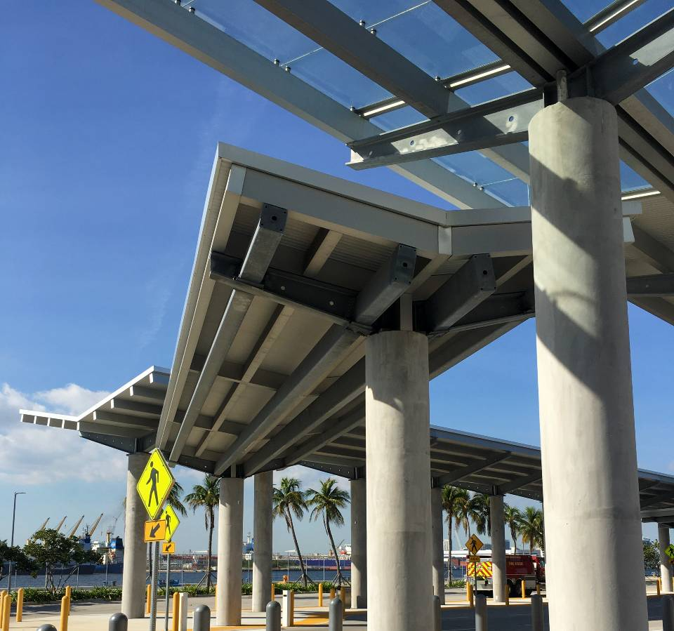 Royal Carribbean Terminal Walkway Covers