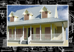 Image of Hurricane Fabric on a House